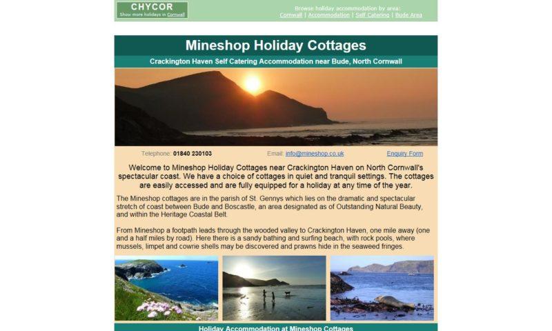 Mineshop Holiday Cottages